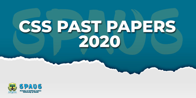CSS Past Papers 2020
