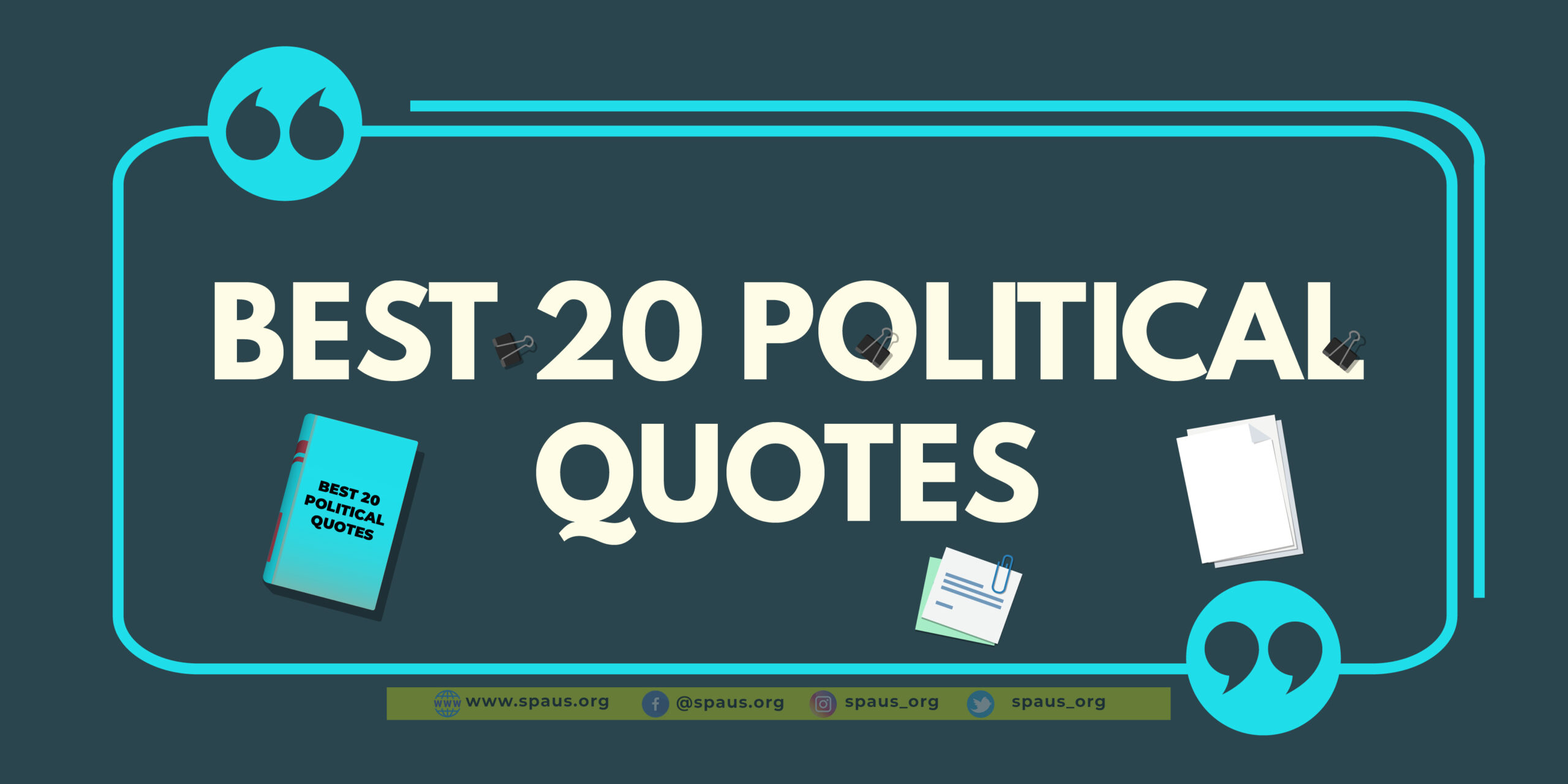 Best 20 Political Quotes
